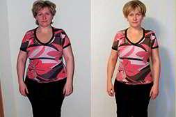 До и после применения таблеток Талия для похудения